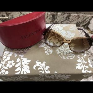 Valentino dusty purple braided sunglasses